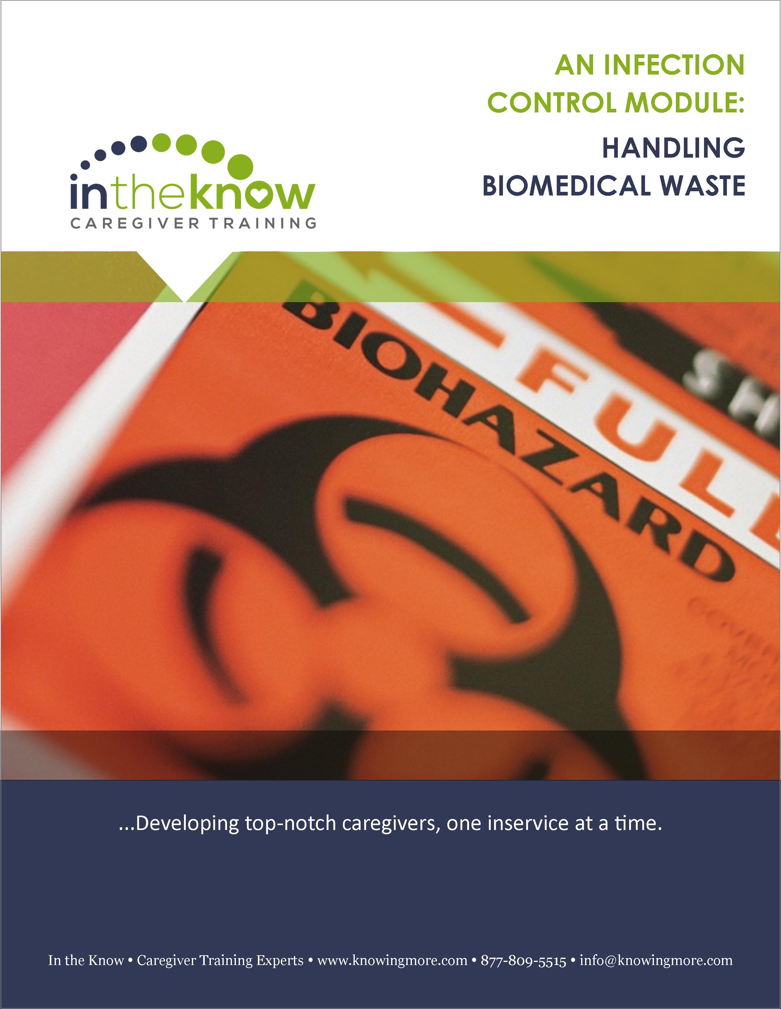 Handling Biomedical Waste   In The Know Caregiver Training