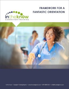 Caregiver orientation plan.