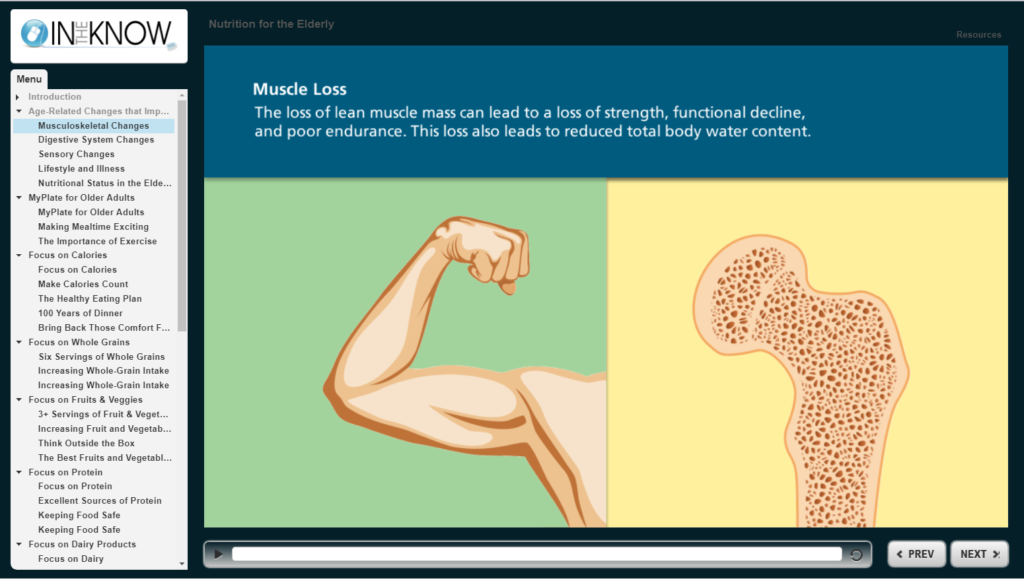 e-learning with interactive visuals